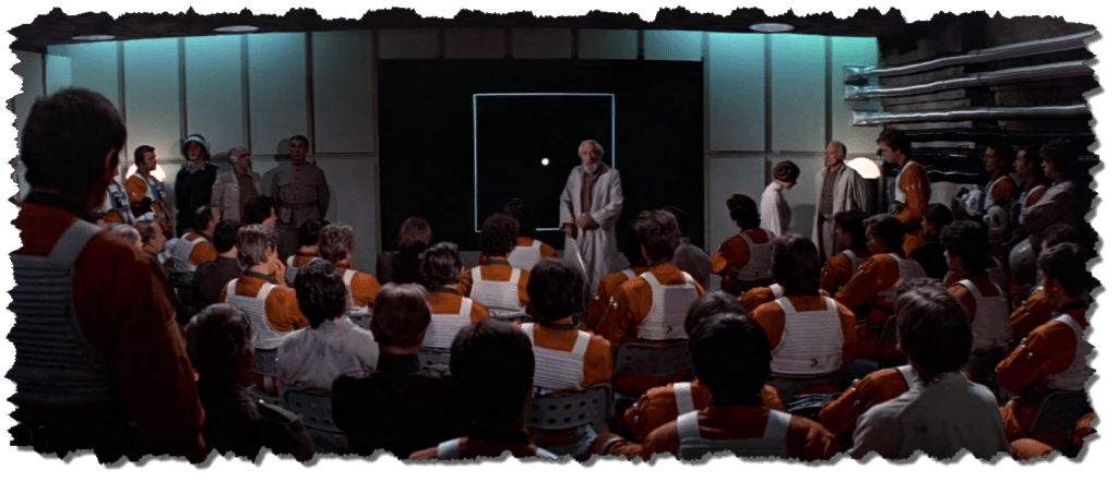 Pilot Briefing about the Deathstar Cutout effect